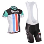 2014 Team BIANCHI Cycling Bib Kit White Black Green