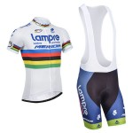 2014 Team Lampre MERIDA UCI Cycling White Jersey Bib Kit