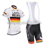 2014 Team LOTTO BELISOL Cycling Bib Kit White