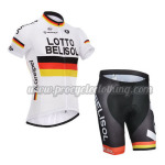2014 Team LOTTO BELISOL Cycling Kit White