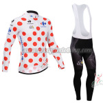 2014 Tour de France Cycling Long Bib Kit Polka Dot