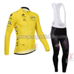 2014 Tour de France Cycling Long Bib Kit Yellow