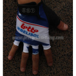 2012 Team LOTTO Cycling Gloves Mitts White Blue