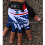 2013 Team LOTTO Cycling Gloves Mitts White Blue