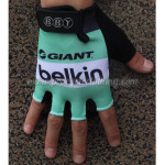 2014 Team Belkin Cycling Gloves Mitts Green
