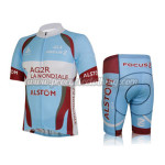 2013 Team AG2R LA MONDIALE ALSOM Cycling Kit Blue Red