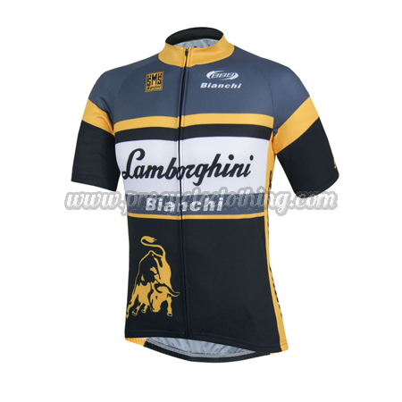 2014 Team Lamborghini Bianchi Pro Riding Apparel Summer Winter Cycle Shirt  Jersey b05314196