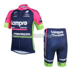 2014 Team Lampre MERIDA Cycling Kit Blue Pink