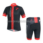 2014 Team PINARELLO Cycling Kit Black Red