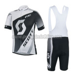 2014 Team SCOTT Cycling Bib Kit Black White Grey