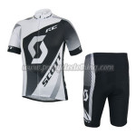 2014 Team SCOTT Cycling Kit Black White Grey