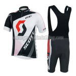 2014 Team SCOTT Riding Bib Kit Black White Red
