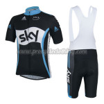 2014 Team SKY Cycling Bib Kit Black White Blue
