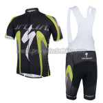 2014 Team ShanDian Cycling Bib Kit Black Green