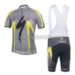 2014 Team SPECIALZIED Cycling Bib Kit Grey Yellow