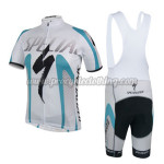 2014 Team SPECIALZIED Cycling Bib Kit White Blue
