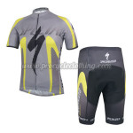 2014 Team SPECIALZIED Cycling Kit Grey Yellow