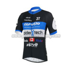 2013 Team Cervelo Spider tech Cycling Jersey Black Blue
