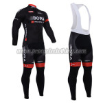 2015 Team BARO ARGON 18 Cycling Long Bib Kit Black