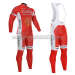 2015 Team Cofidis Cycling Long Bib Suit Red White