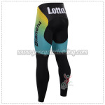 2015 Team LOTTO Bicycle Long Pants Yellow Blue