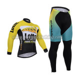 2015 Team LOTTO Cycling Long Kit Yellow Blue
