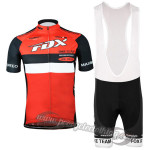 2015 Team FOX Cycling Bib Kit Red
