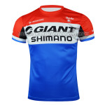2015 Team GIANT SHIMANO Cycling Outdoor Sport Apparel Sweatshirt Round Neck T-shirt Red Blue