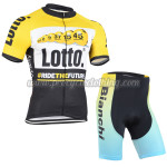 2015 Team LOTTO Cycling Kit Yellow Blue