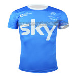 2015 Team SKY Riding Outdoor Sport Clothing Sweatshirt Round Neck T-shirt Blue