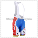 2015 Team Tinkoff SAXO BANK Cycling Bib Shorts Blue Red