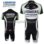 2011 Team LIQUIGAS Cycling Kit Black White Green
