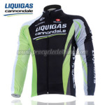 2011 Team LIQUIGAS cannondale Cycling Long Jersey Black Green