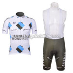 2012 Team AG2R LA MONDIALE Cycling Bib Kit White Grey