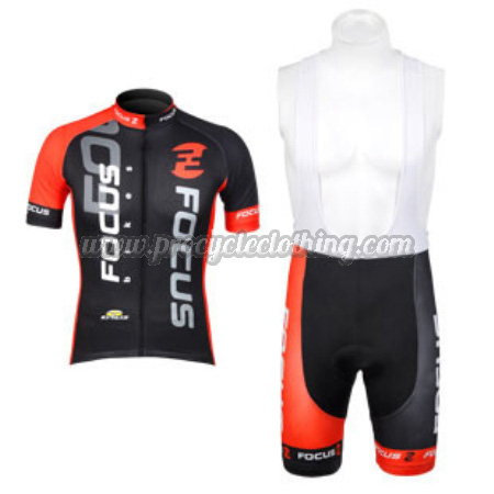 3f1412ad9 2012 Team FOCUS Pro Bike Wear Cycle Jersey and Bib Shorts Black Red ...
