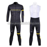 2012 Team LIVESTRONG Cycling Long Sleeve Bib Kit Black