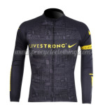 2012 Team LIVESTRONG Cycling Long Sleeve Jersey Black
