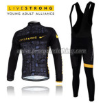 2012 Team LIVESTRONG Riding Long Bib Kit Black