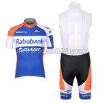 2012 Team Rabobank Cycling Bib Kit Blue