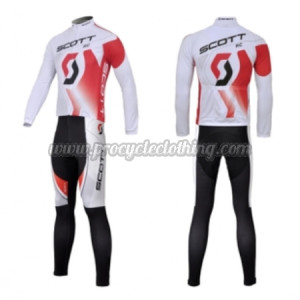2012 team scott pro riding outfit cycle long jersey and pants tights