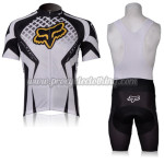 2012 Team FOX Cycling Bib Kit White Black