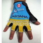2015 Team ASTANA Cycling Gloves Mitts Blue Yellow