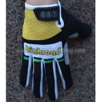 2012 Team HTC highroad Cycling Gloves Full Fingers Yellow Black