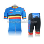 2012 Team BELGIUM LOTTO Cycling Kit Blue