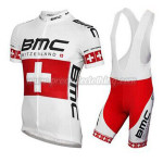 2014 Team BMC Cycling Bib Kit White Red
