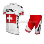 2014 Team BMC Cycling Kit White Red