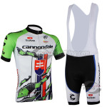2014 Team Cannondale Cycling Bib Kit White Green Red Eyes