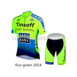 2014 Team Tinkoff SAXO BANK Cycling Kit Fluorescent Green