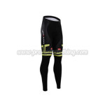 2015 Team Castelli Cycling Long Pants Black White Green