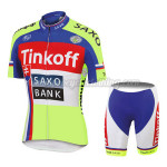 2015 Team Tinkoff SAXO BANK Riding Kit Blue Red Fluorescent